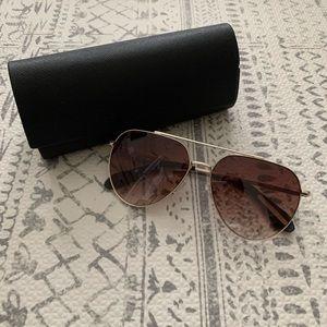 BCBG aviator sunglasses, brand new in a case